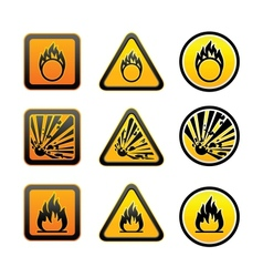 Hazard warning symbols set vector
