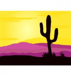 Mexico desert vector image vector image