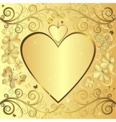 valentine elegant golden background vector image