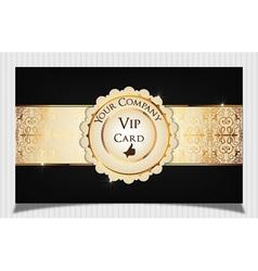 Black creative vip card vector image