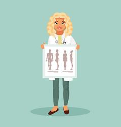 girl intern therapist vector image