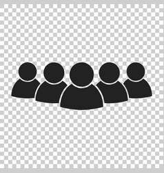 Group of people icon persons icon vector