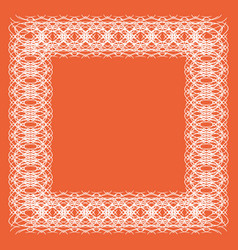 lacy frame of white lines vector image