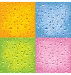 set of wet surfaces vector image vector image
