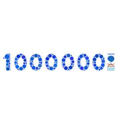 1000000 digits text mosaic icon circle dots vector