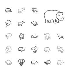 22 zoo icons vector