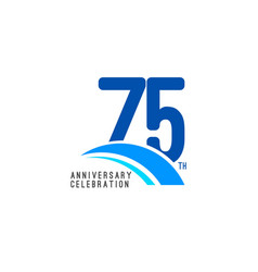 75 year anniversary celebration template design vector