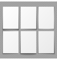 A4 blank sheets of white paper with different vector image