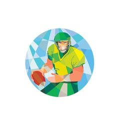 American Football Quarterback Passing Low Polygon vector image