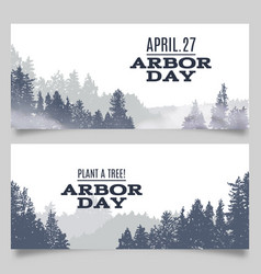 arbor day typography with vector image