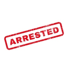 Arrested Text Rubber Stamp vector image
