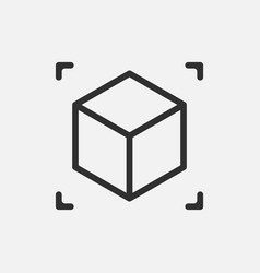 Augmented reality cube icon isolated on white vector