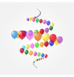 Background of balloons vector