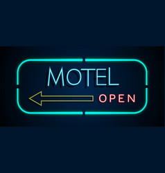 Background of neon signs hotel vector