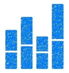 Bar Chart Grainy Texture Icon vector