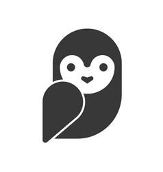 Barn owl halloween related icon pixel perfect vector