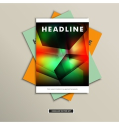 Book cover with abstract geometric shapes eps vector
