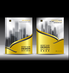 Brochure template layout gold cover design flyer vector