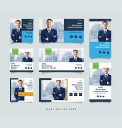 Business social media post design template vector