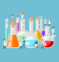 chemical laboratory experiments in science test vector image