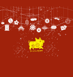 chinese new year background card print year of vector image