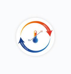 Climate control regulator temperature controller vector