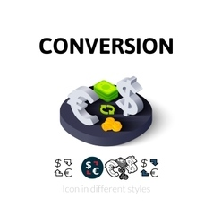 Conversion icon in different style vector image