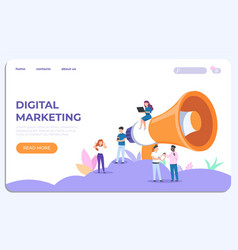 Digital marketing landing page specialists vector