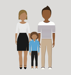 Family cartoon icon vector