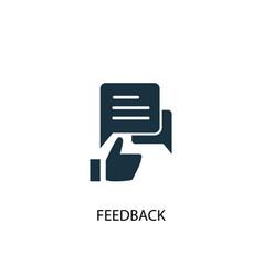 Feedback icon simple element vector