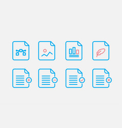 File type icon set simple set of file formats vector