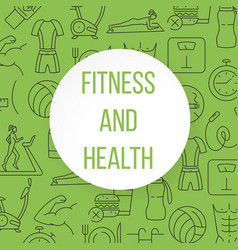 Fitness and health pattern vector