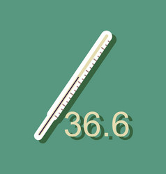 Flat icon design collection body thermometer in vector