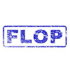 Flop rubber stamp vector