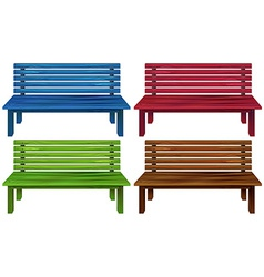 Four colourful chairs vector