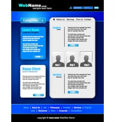 futuristic style website template vector image
