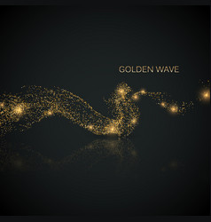 glittering stream of gold sparkles vector image
