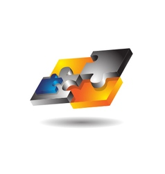 Glossy Modern Puzzle vector