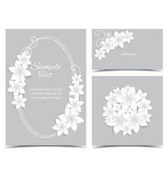 Gray background with white flowers vector