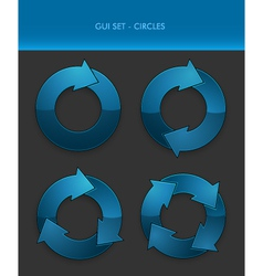 GUI Set - Circles vector image