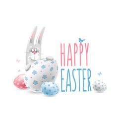 happy easter congratulation vector image