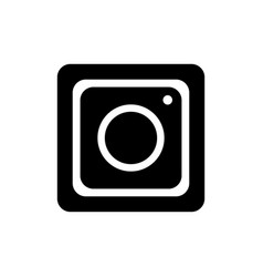 hipster photo camera line icon on background vector image