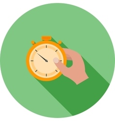 Holding Stopwatch vector image