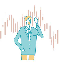 investment searching financial performance vector image