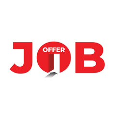 job offer concept with text and entrance stock vector image