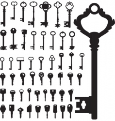Keys collection vector