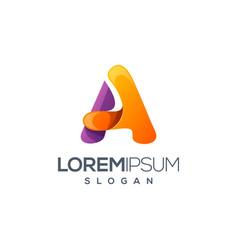 letter a logo design vector image