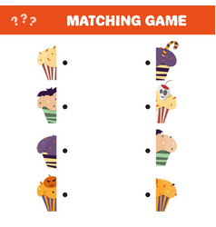 matching game educational children activity with vector image