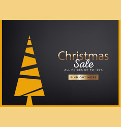 merry christmas sale discount offer greeting card vector image