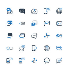 Message and communication icons vector
